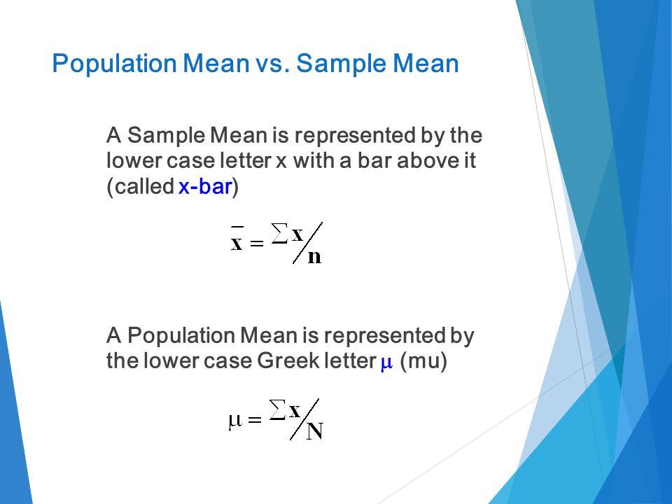 population mean vs