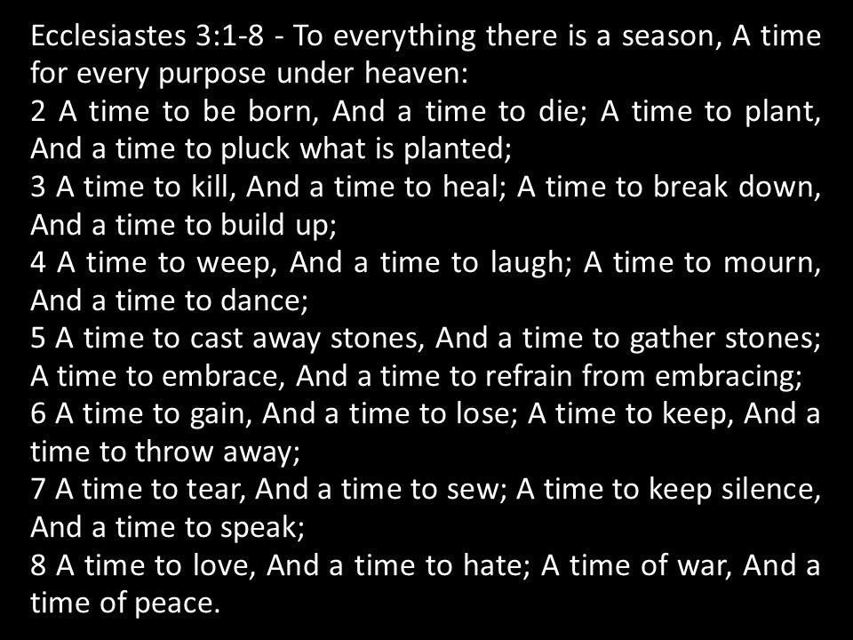Ecclesiastes 1:1-3 - The words of the Preacher, the son of David