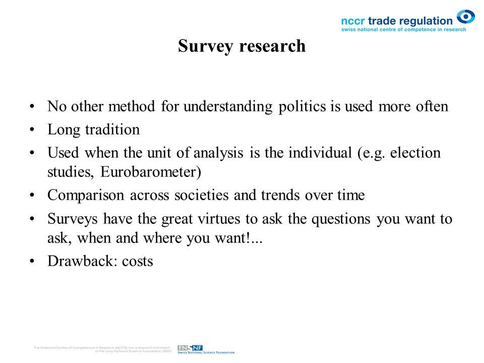 survey methodology example