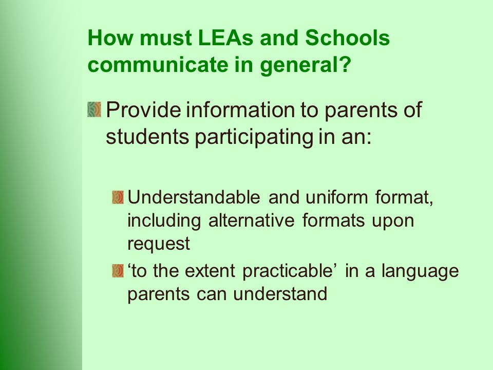 How must LEAs and Schools communicate in general.