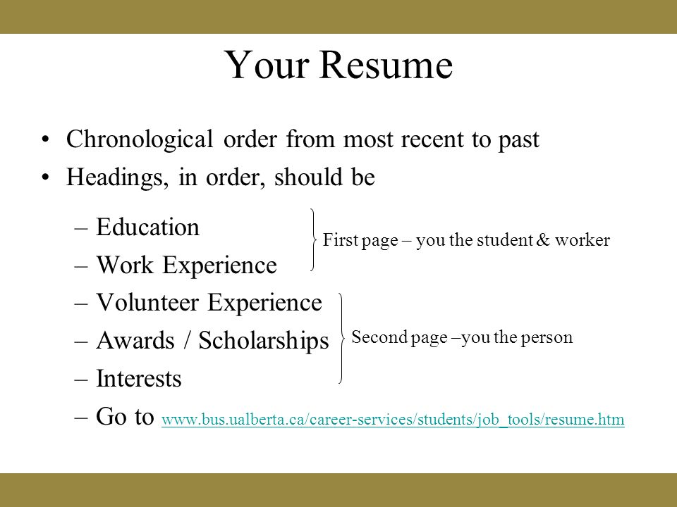 Preparing A Personalized Cover Letter And Resume