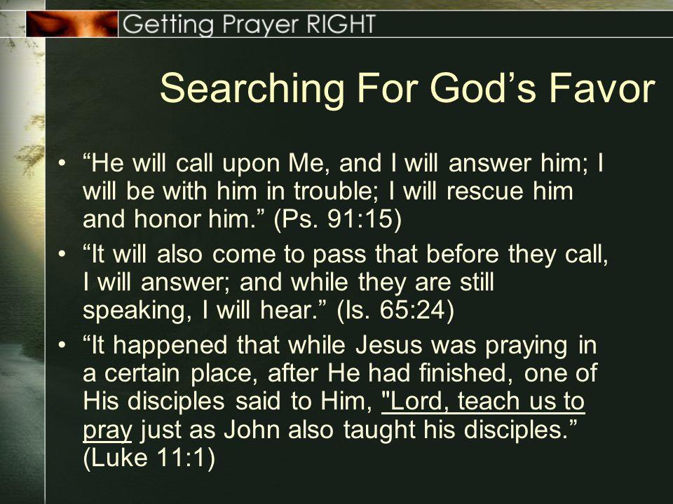 Getting Prayer Right: Avoiding Common Problems In Prayer