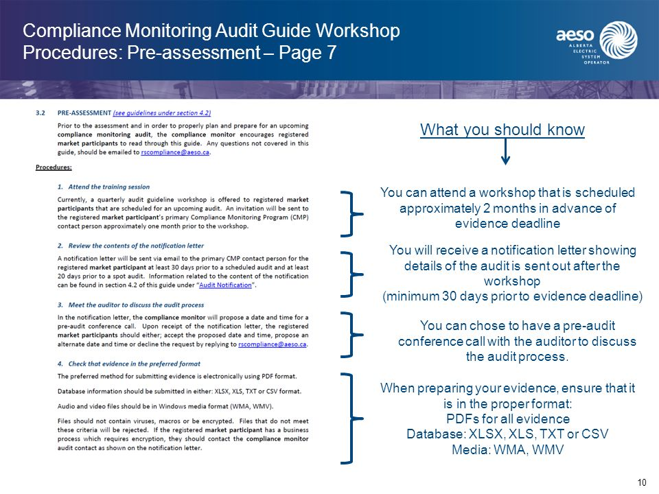 Compliance Monitoring Audit Tutorial Version 1 0 April ppt