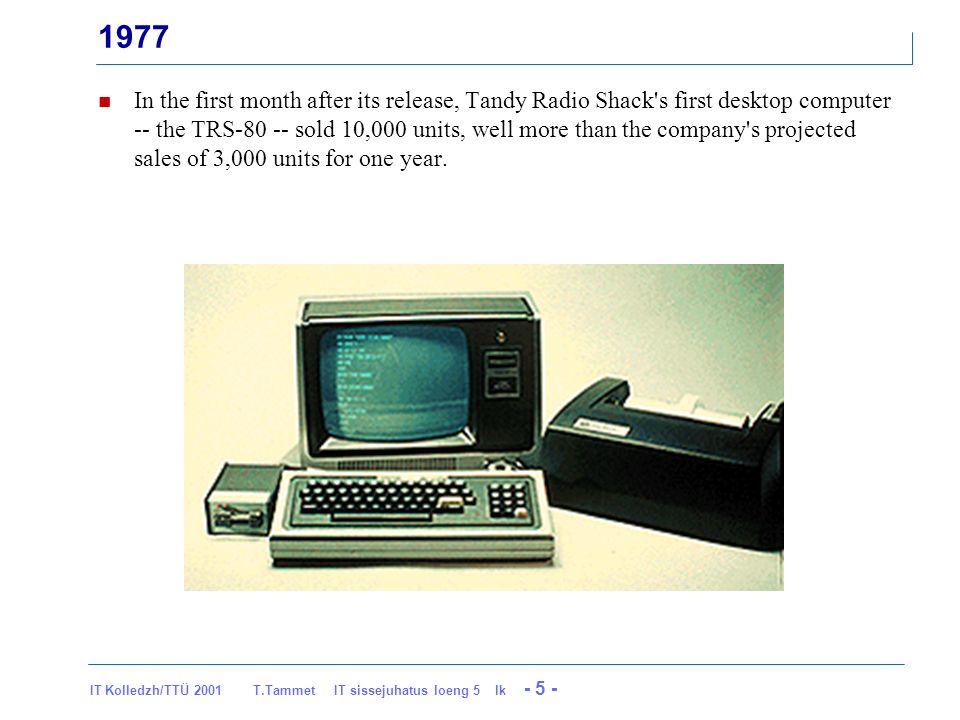 IT Kolledzh/TTÜ 2001 T Tammet IT sissejuhatus loeng 5 lk