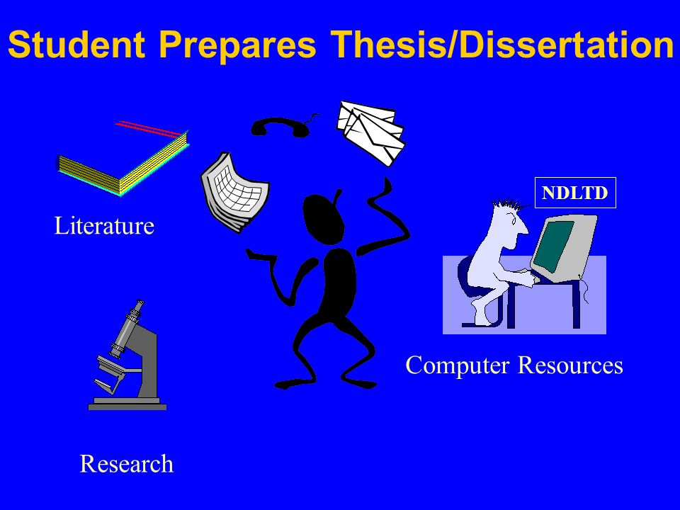 NDLTD Computer Resources Research Literature Student Prepares Thesis/Dissertation