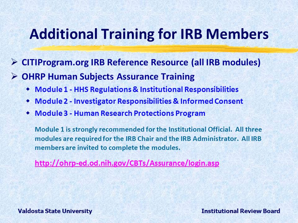 basic institutional review board irb regulations and review process quiz