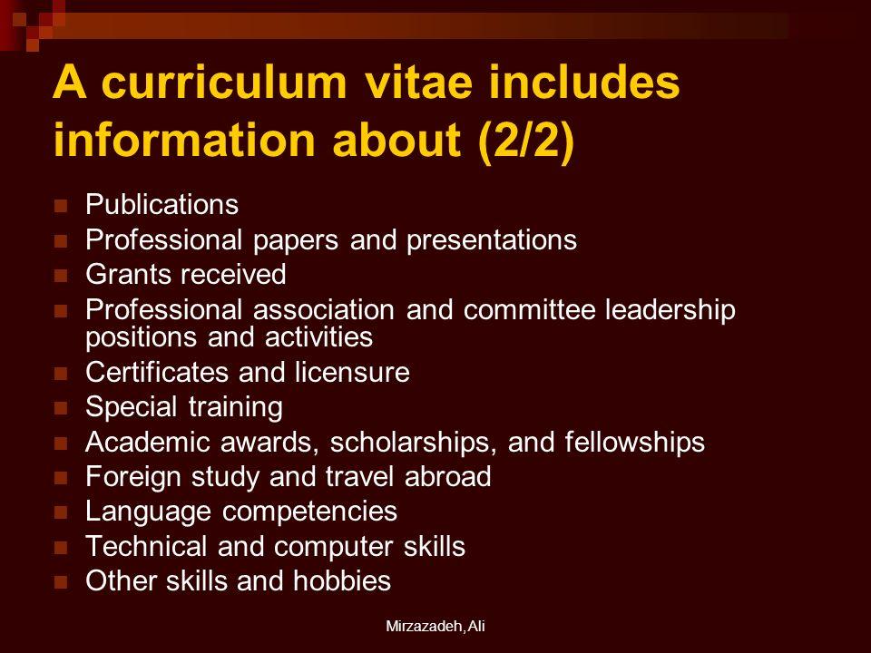 Mirzazadeh Ali Curriculum Vitae Mirzazadeh Ali Md Mph Kerman