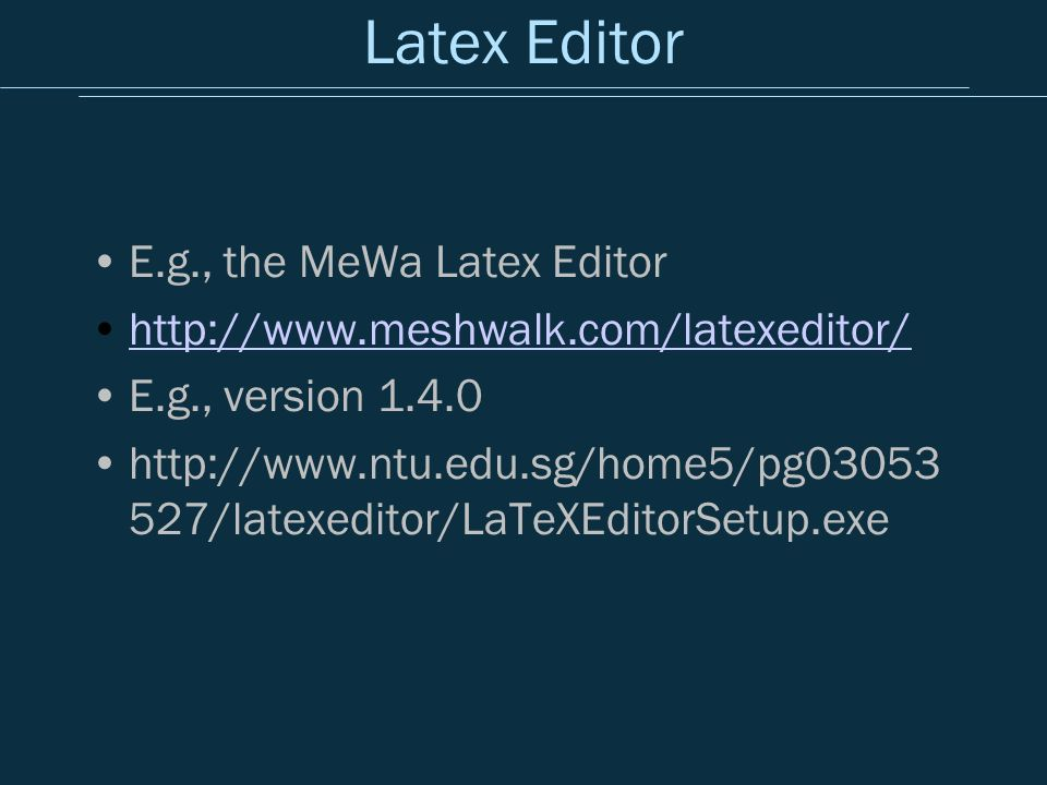 exe latex package