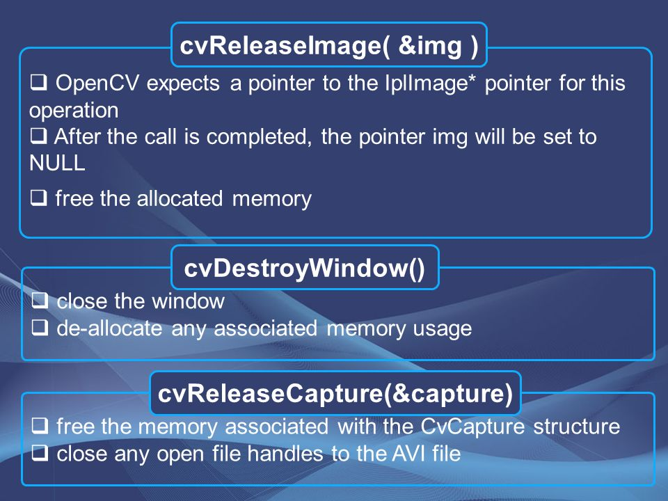 OpenCV Open source C omputer V ision library By: Bahare