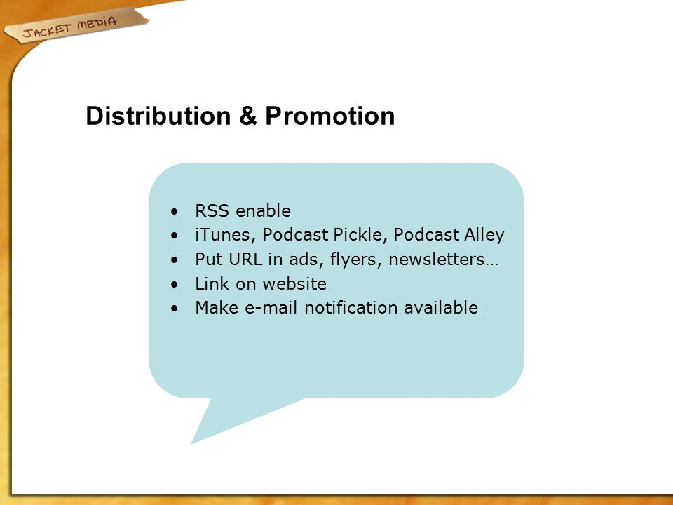 Podcasting, Blogging and Spreading the Word Getting Your Message On