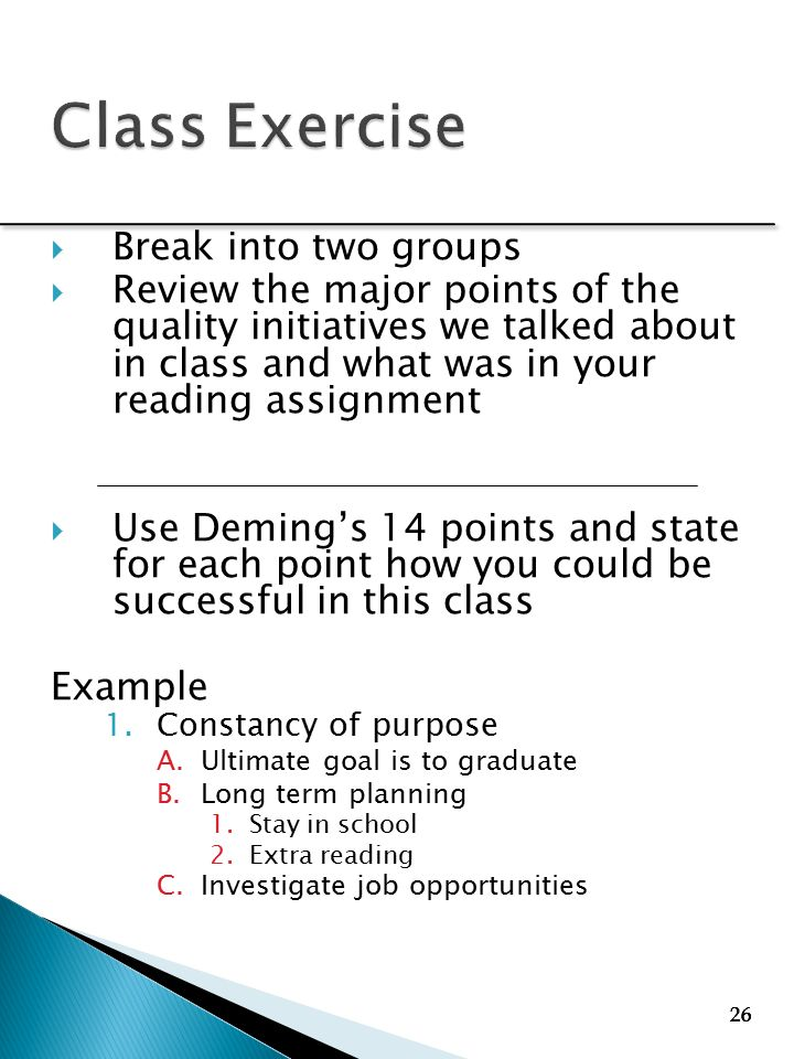 deming 14 points examples