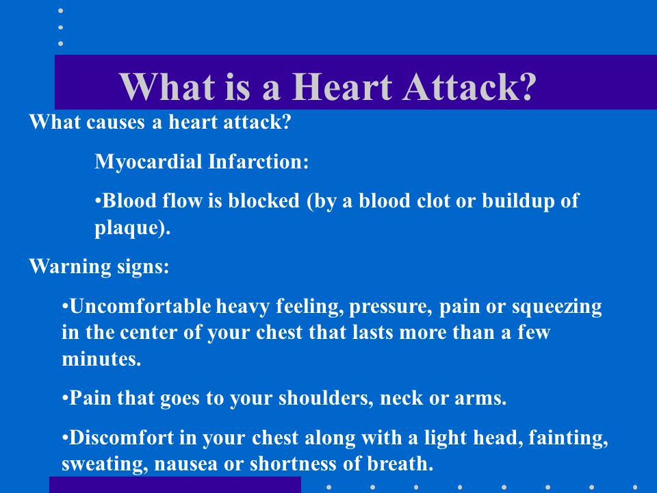What is a Heart Attack. What causes a heart attack.