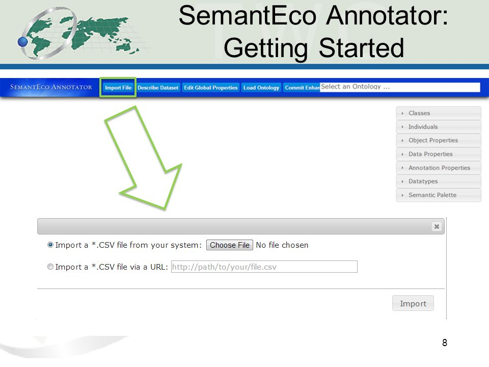 SemantEco Annotator: Getting Started 8