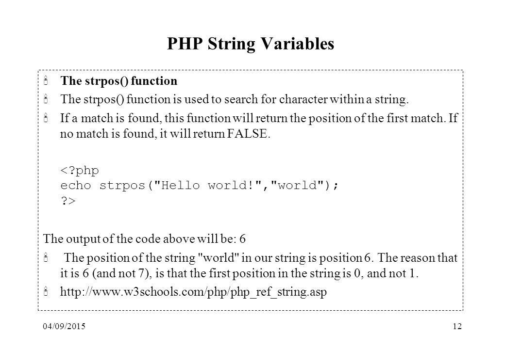 04/09/20151 PHP & MySQL 'Slide materials are based on