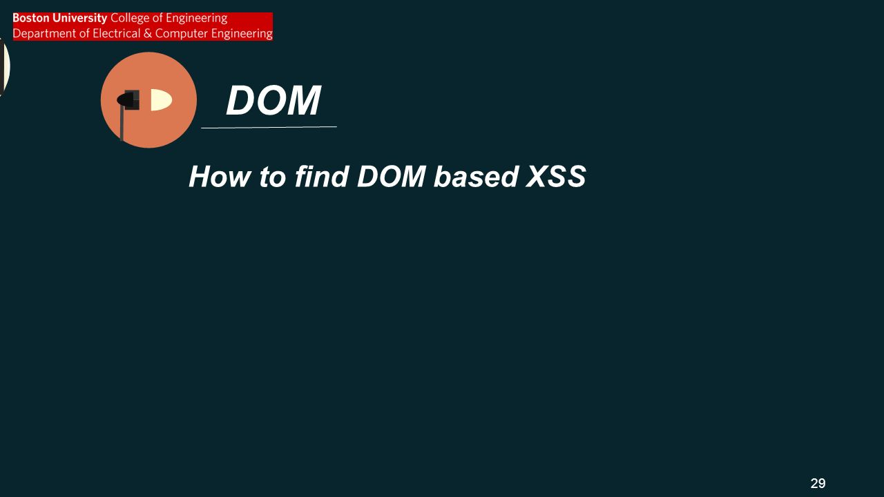 DOM How to find DOM based XSS 29