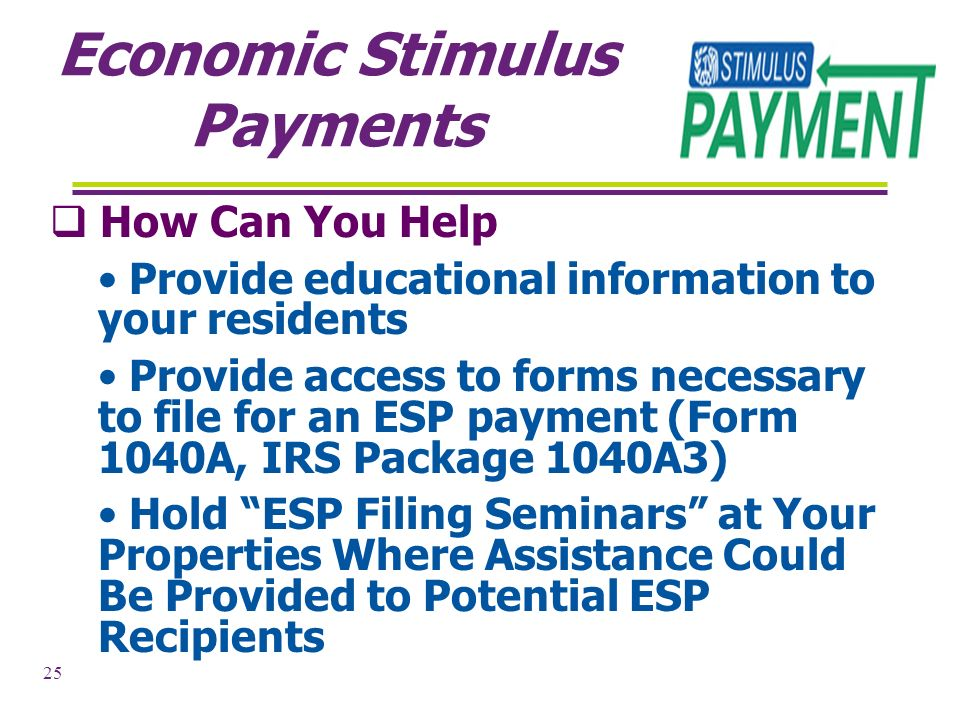 1 Economic Stimulus Act Of 2008 Helping Qualified Individuals
