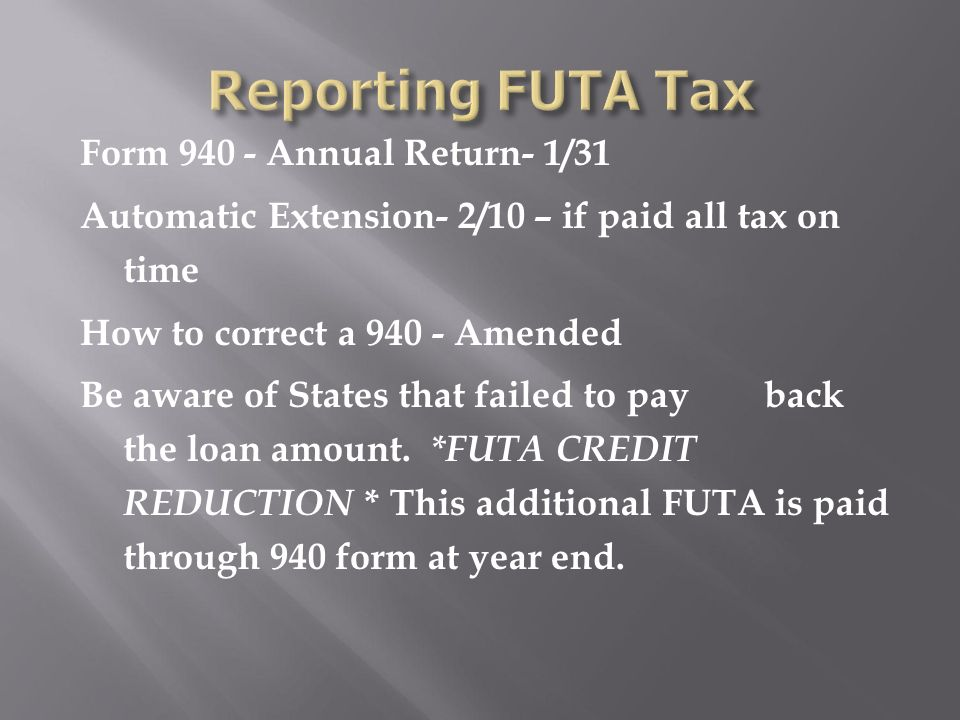 Unemployment Insurance Section 7 Who Must Pay Futa And Who Is