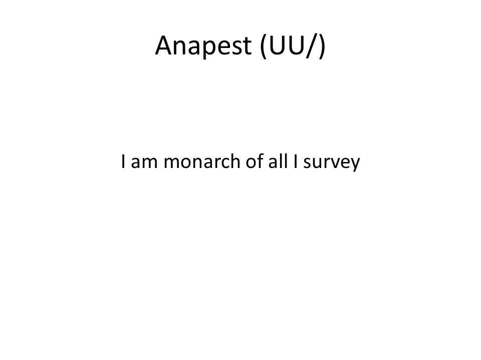 i am monarch of all i survey meter