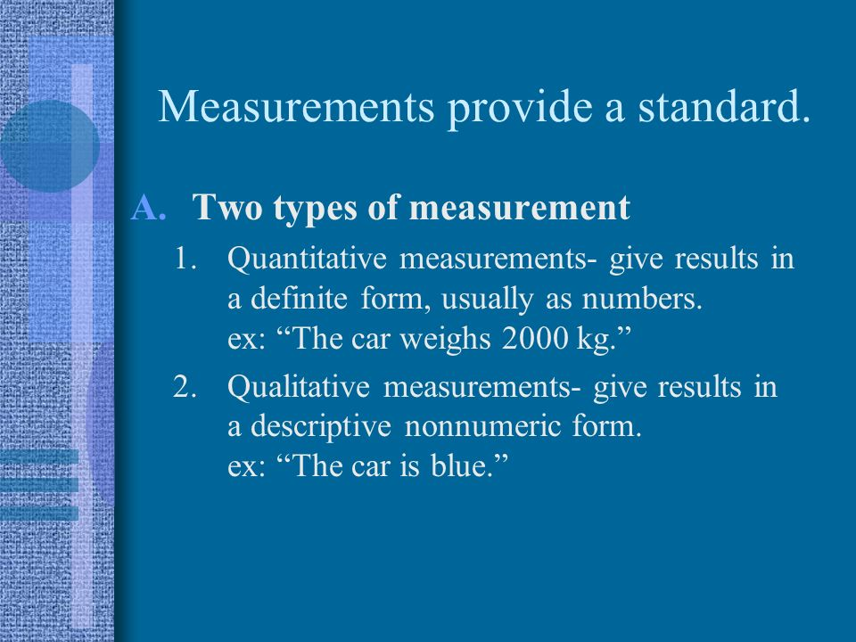 Measurement And Dimensional Analysis The Importance Of Measurement