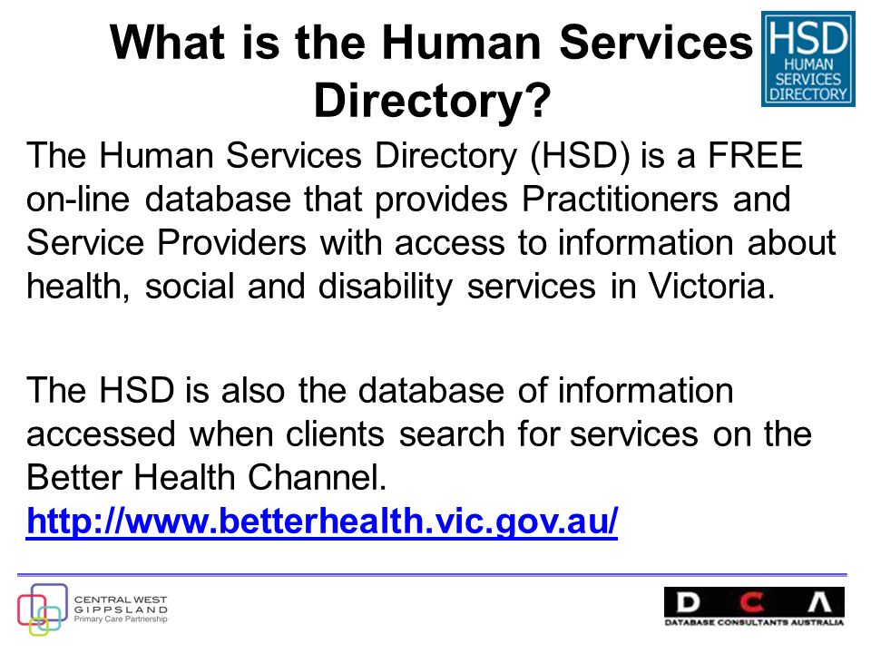 What is the Human Services Directory.