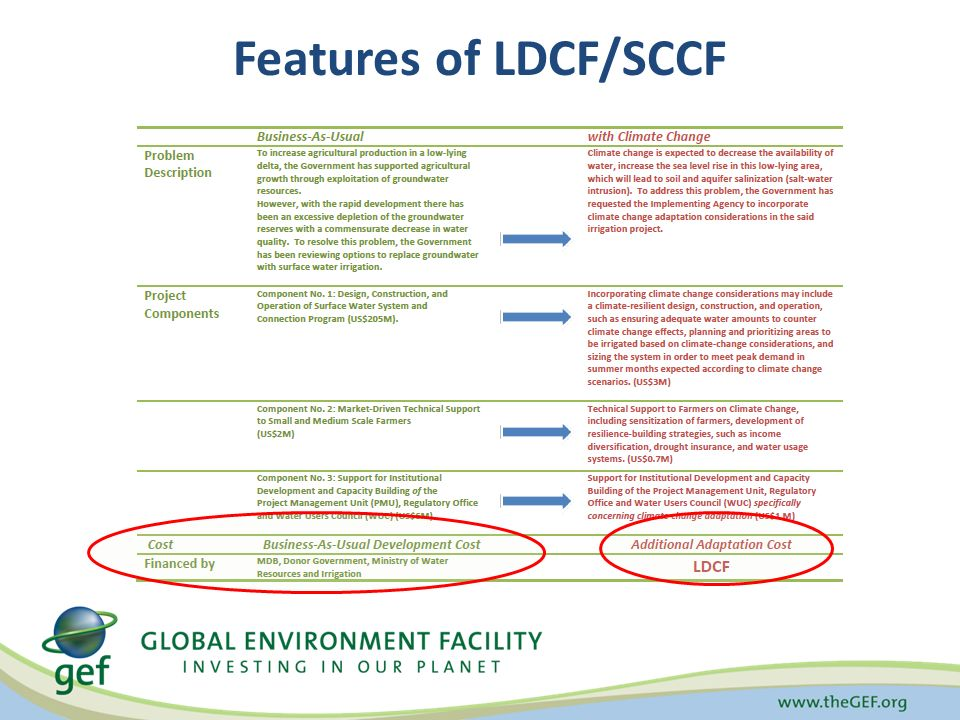 Features of LDCF/SCCF