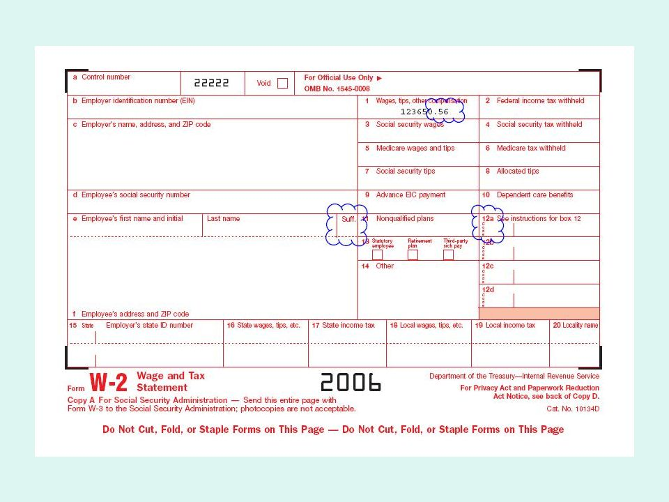 2006 Changes To Tax Forms Whats Changed For 2006 Form W 2 Form