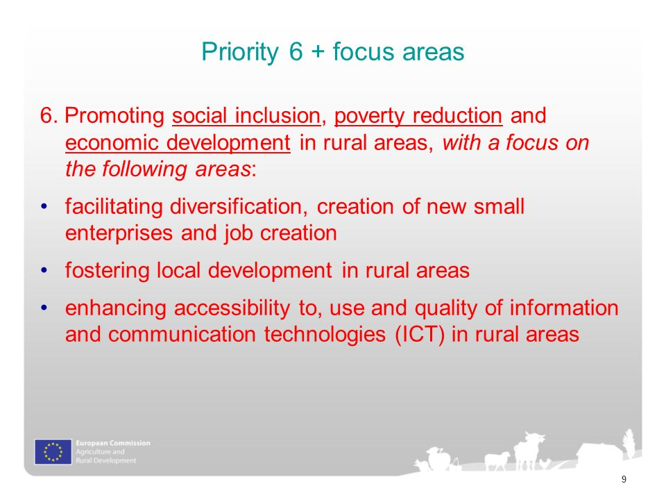 9 Priority 6 + focus areas 6.