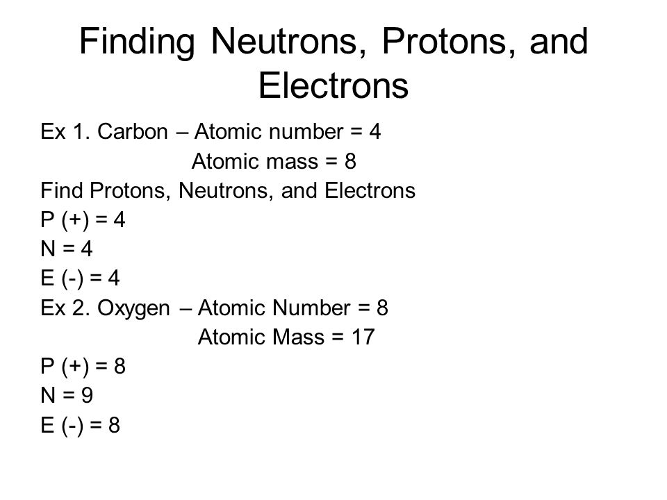 Finding Neutrons, Protons, and Electrons Ex 1.
