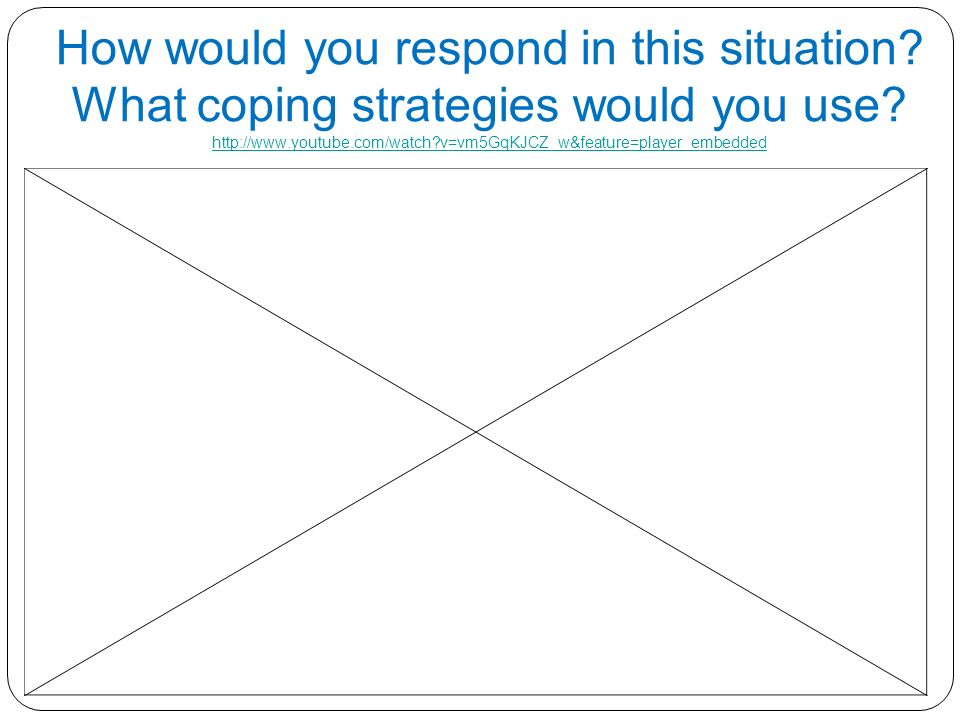 11 How would you respond in this situation. What coping strategies would you use.