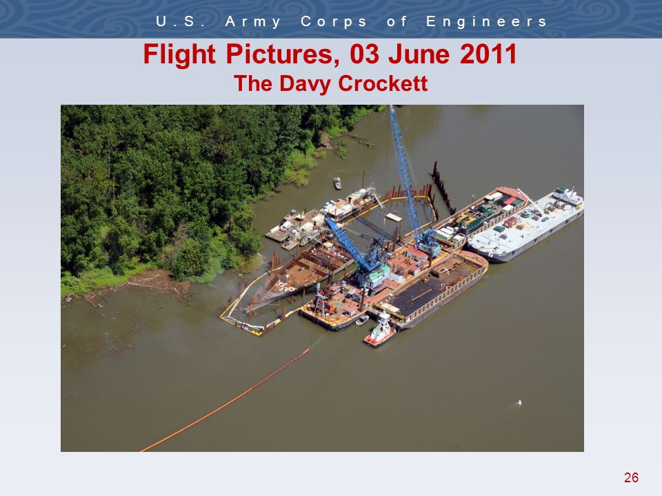 26 U.S. Army Corps of Engineers Flight Pictures, 03 June 2011 The Davy Crockett