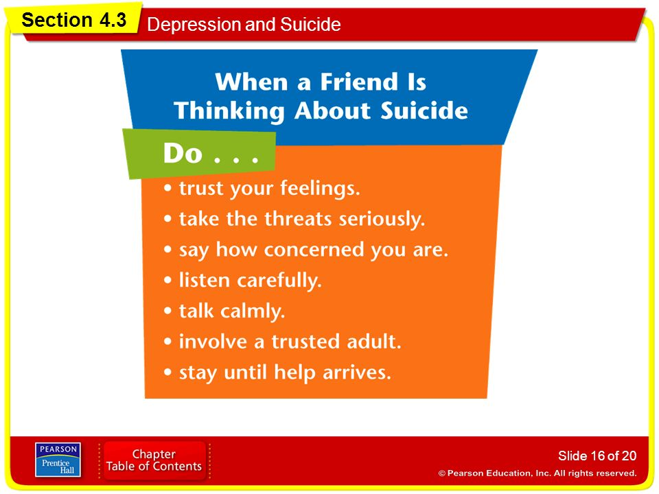Section 4.3 Depression and Suicide Slide 16 of 20