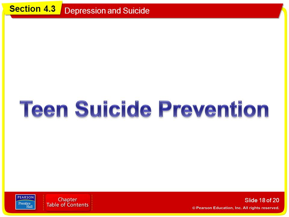 Section 4.3 Depression and Suicide Slide 18 of 20