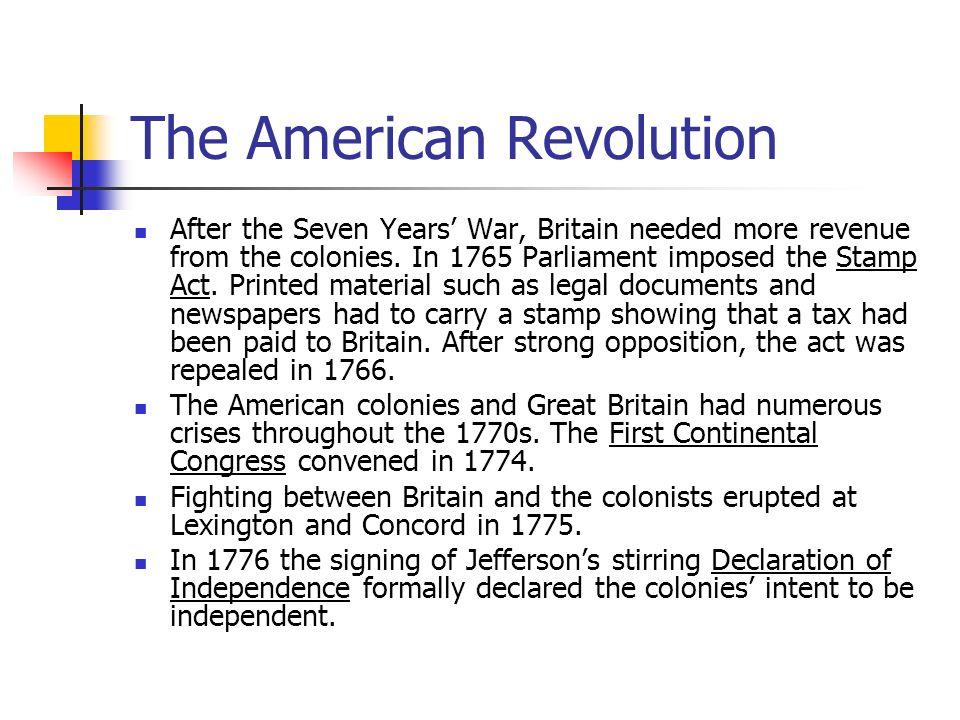 6 The American Revolution