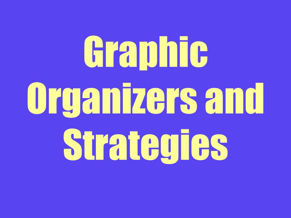 Graphic Organizers and Strategies