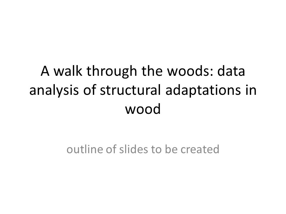 a walk in the woods analysis