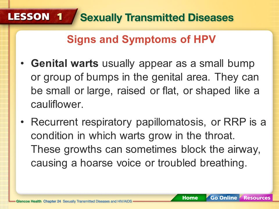 Genital HPV Infections Genital HPV infections are caused by human papillomavirus (HPV) and can cause genital warts.