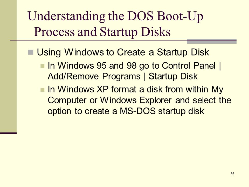 1  2 Disk Operating System (DOS) Finding DOS and Understanding its