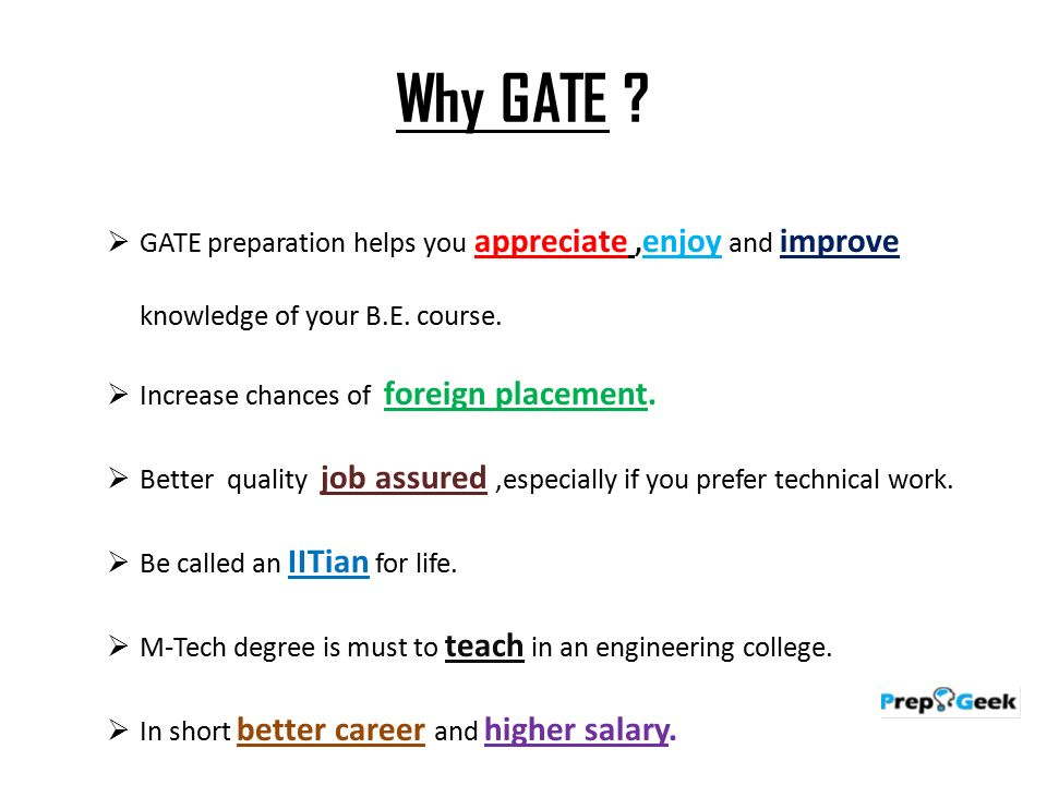 What is GATE ?  The Graduate Aptitude Test in Engineering
