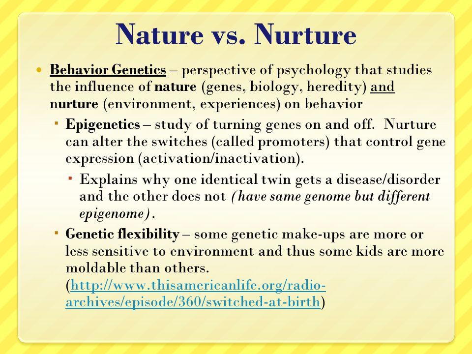 nature vs nurture essay ideas