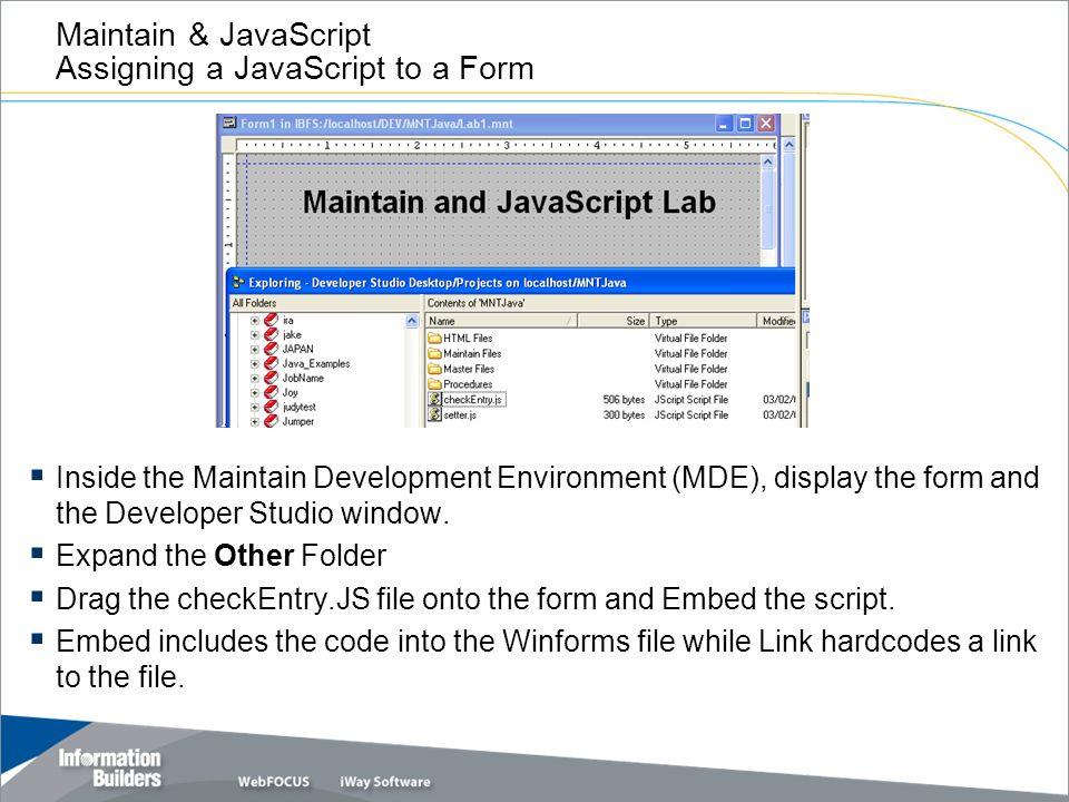 Copyright 2007, Information Builders  Slide 1 Maintain