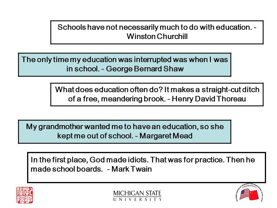 thoreau on education