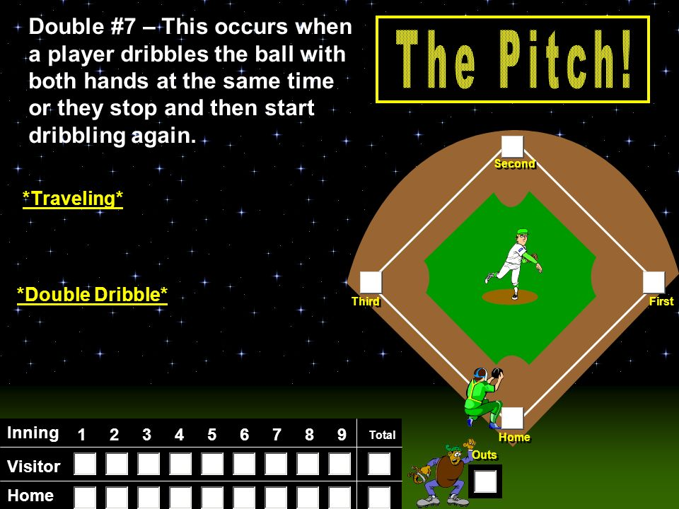 Visitor Home Inning Total Home First Third Second Outs Double #6 – Double #6 – A ball hit up in the air in the infield is called a ________.