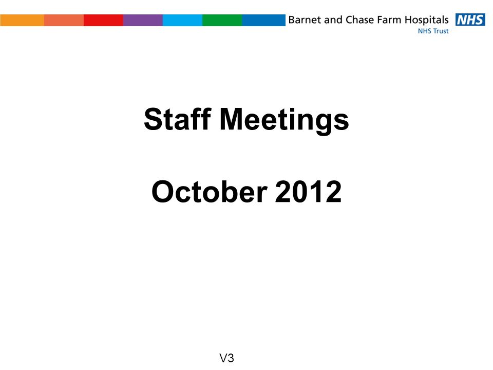Staff Meetings October 2012 V3