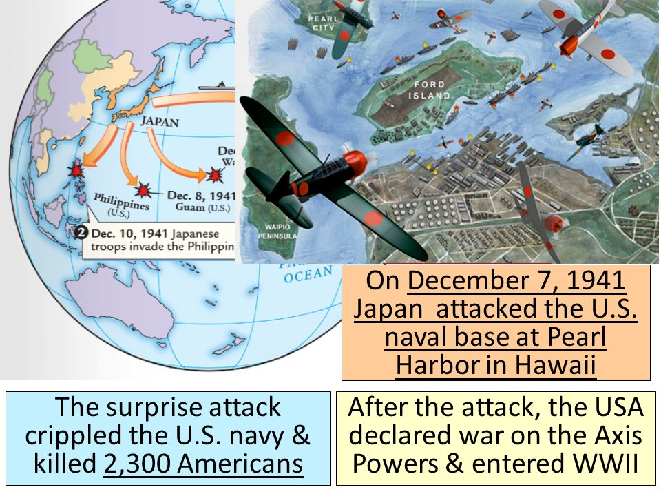 On December 7, 1941 Japan attacked the U.S.