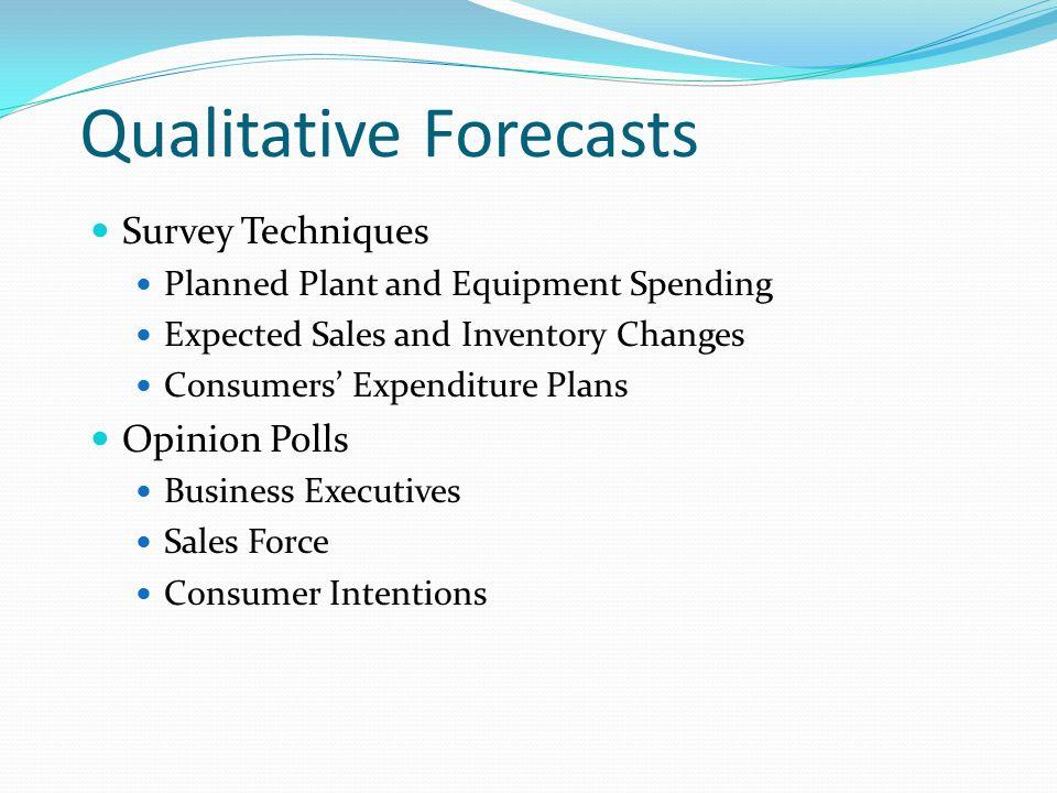 Chapter 5 Demand Forecasting  Qualitative Forecasts Survey
