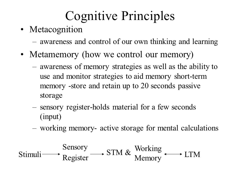 Adolescence And Cognitive Strategies Cognitive Principles Learning