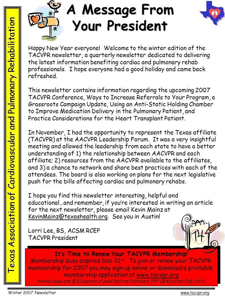 winter 2007 newsletterwww tacvpr org texas association of