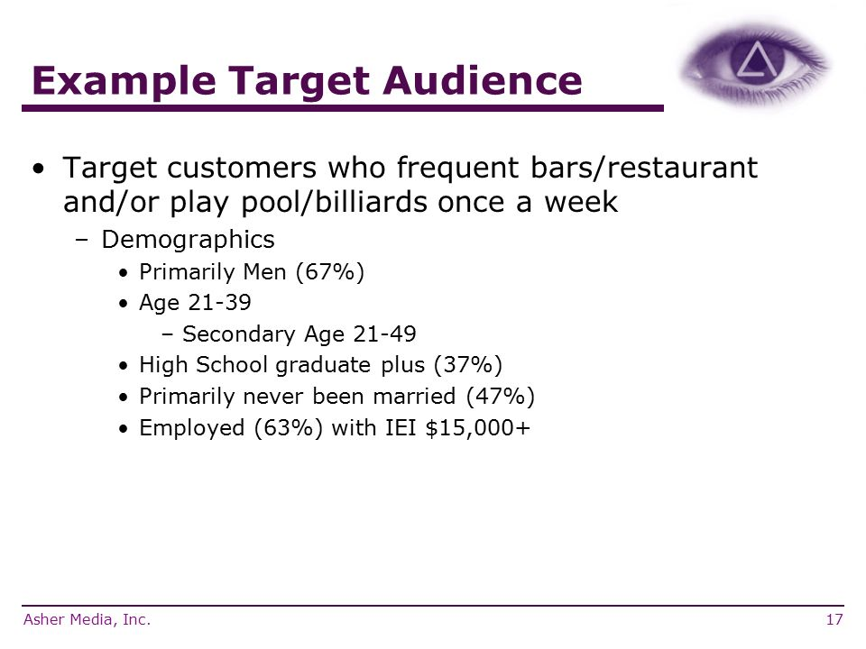 what is a secondary target market