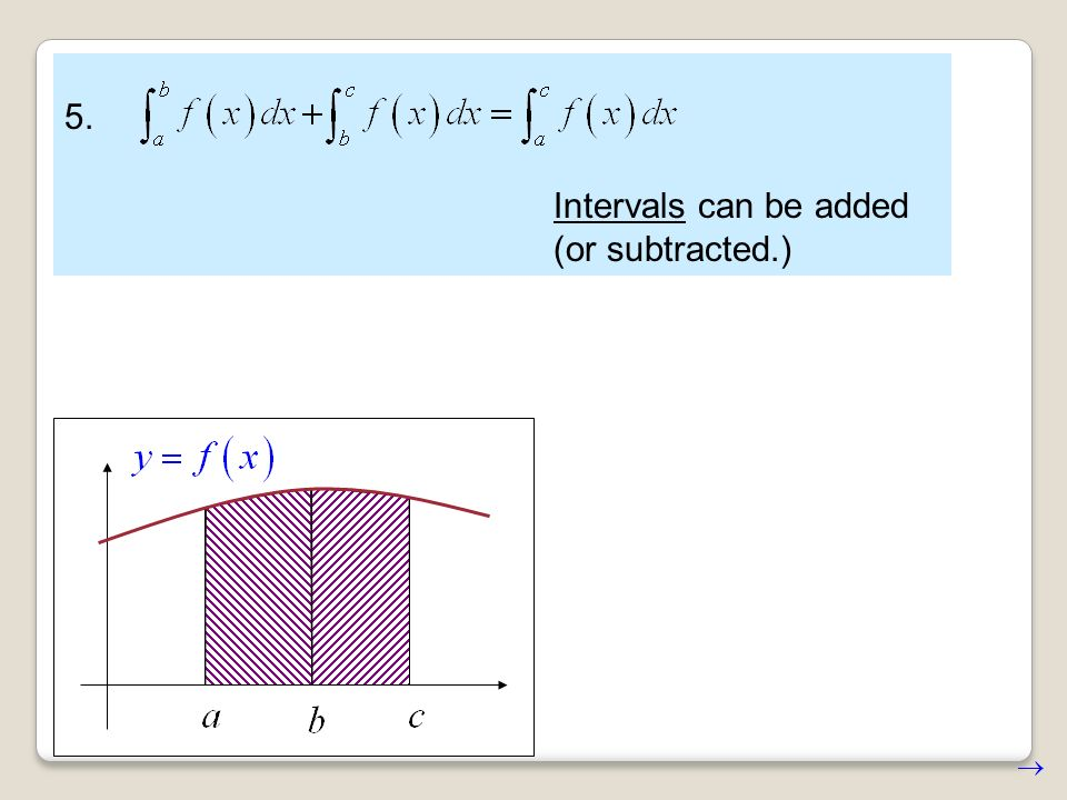 5. Intervals can be added (or subtracted.)