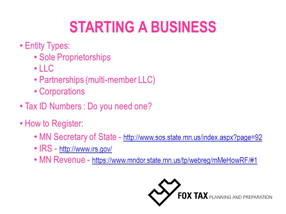 TAX TALK  Business or Hobby? Starting a Business: Which
